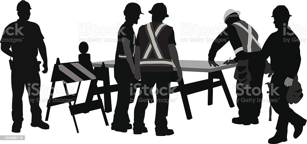 Road Crew Workers royalty-free stock vector art