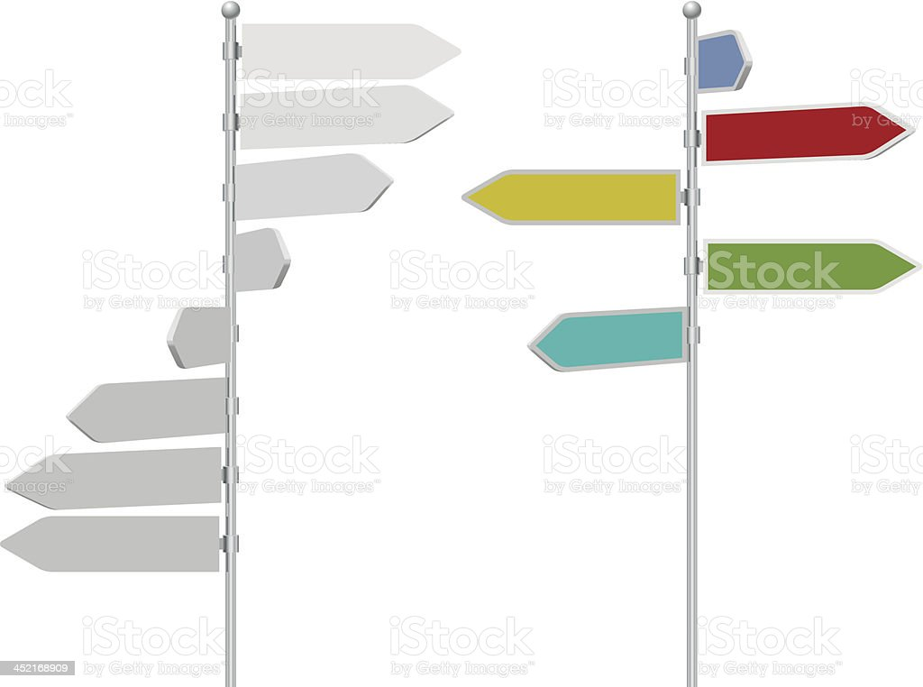 Road direction arrow sign post royalty-free stock vector art