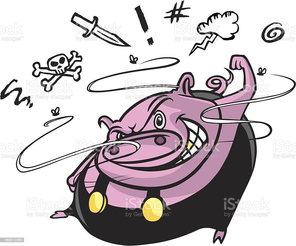 road hog vector art illustration