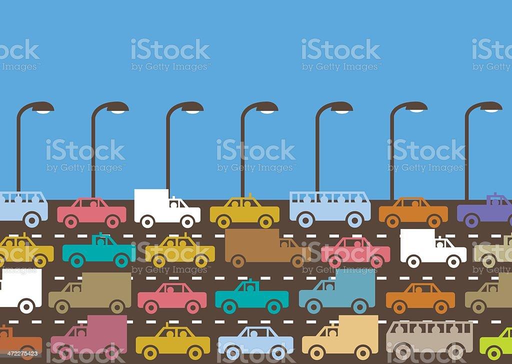 Road horizontal royalty-free stock vector art