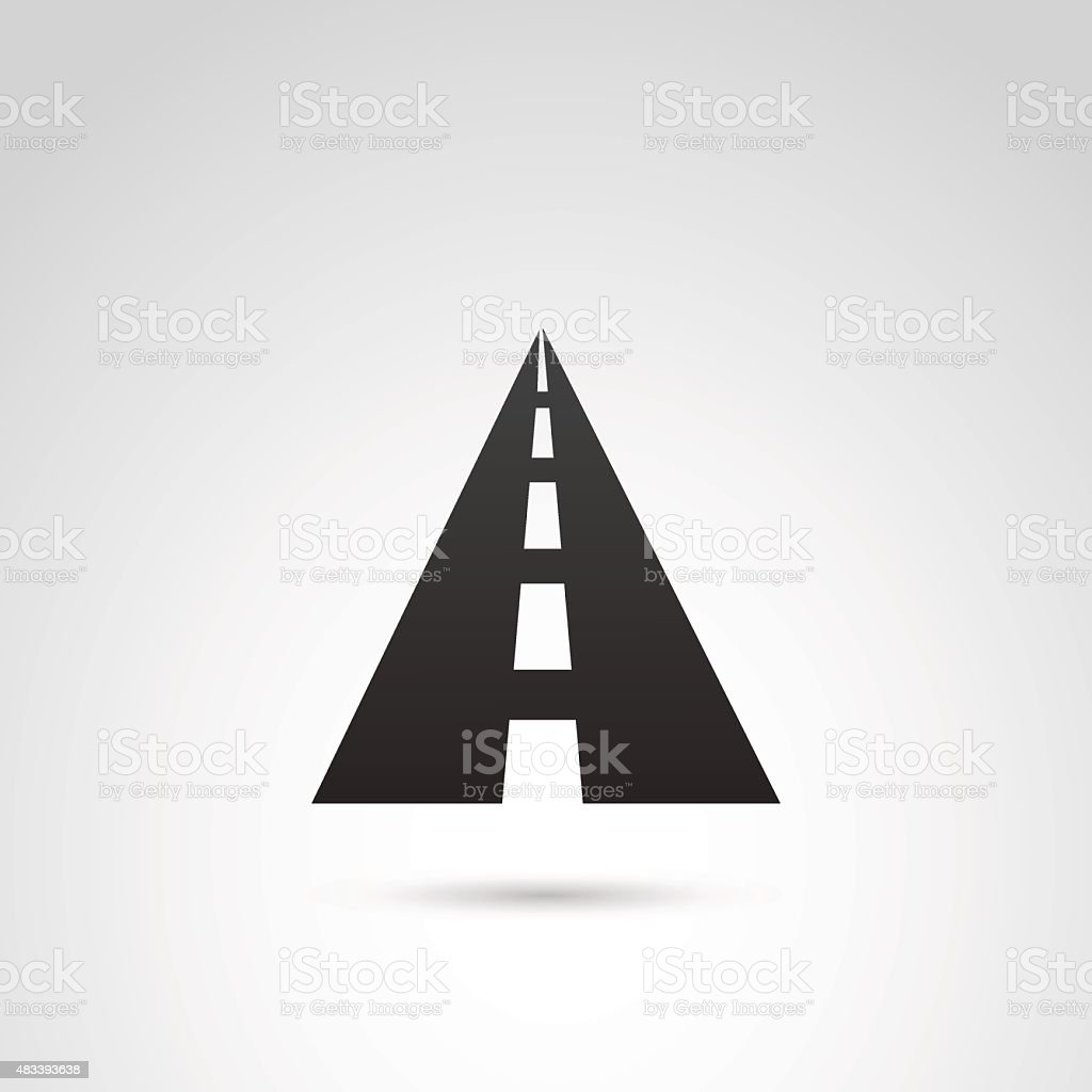 Road icon. vector art illustration