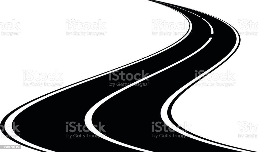 Road icon, vector vector art illustration