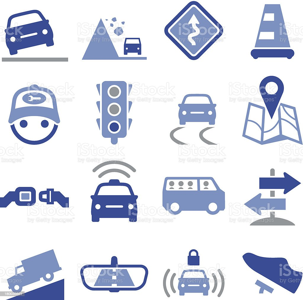 Road Icons - Pro Series vector art illustration