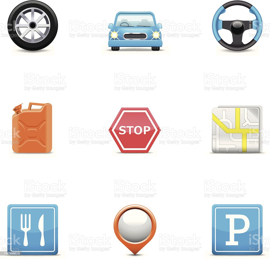 Road icons royalty-free stock vector art