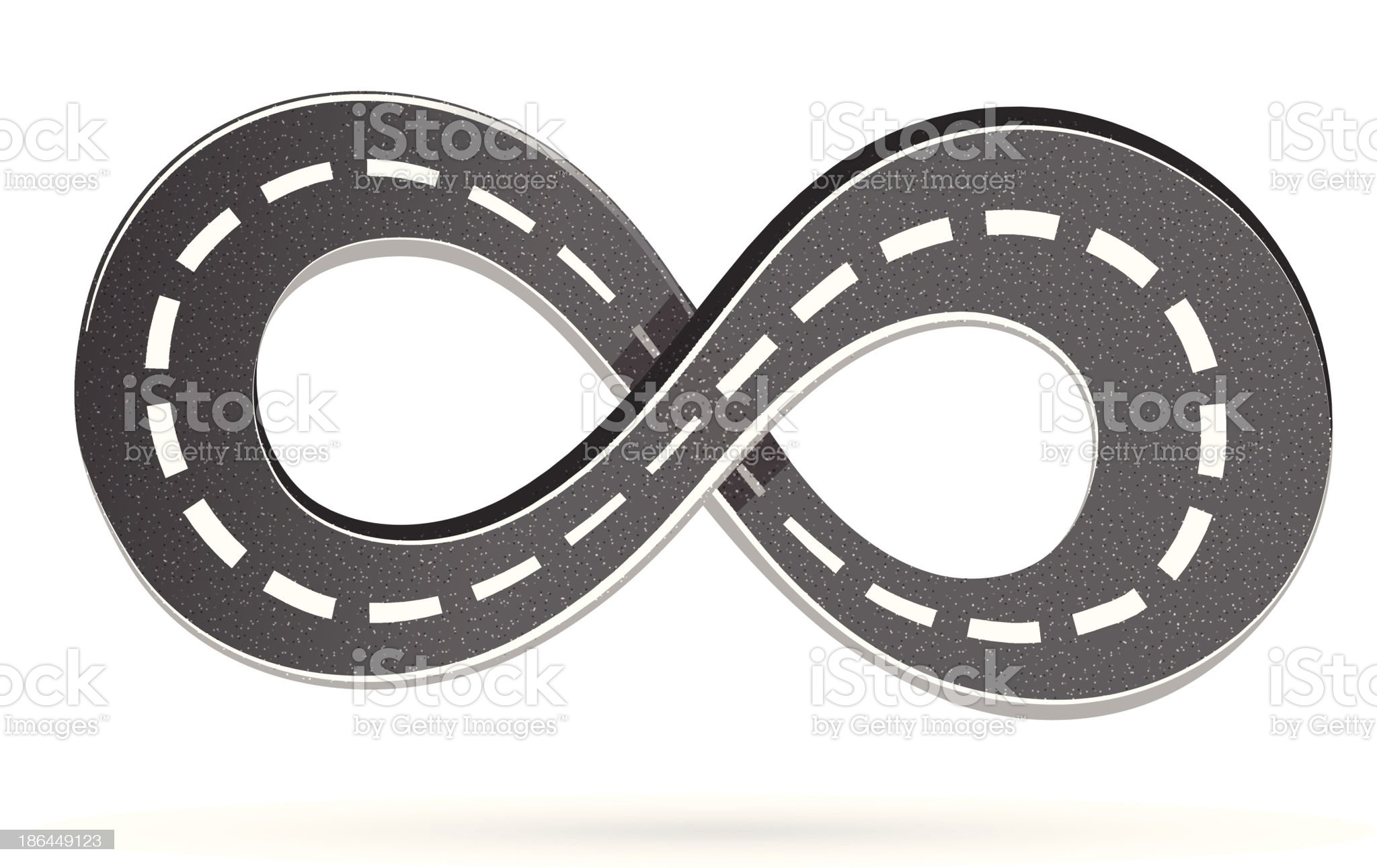 Road in the shape of an infinity sign royalty-free stock vector art