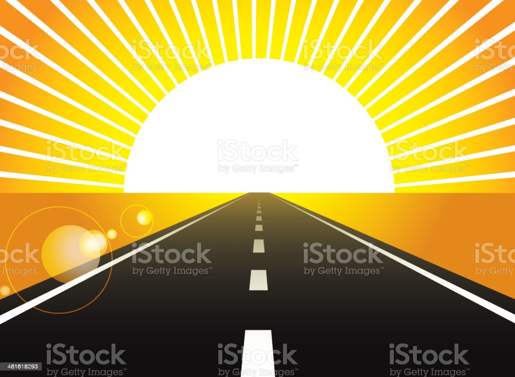 Road lead to future royalty-free stock vector art