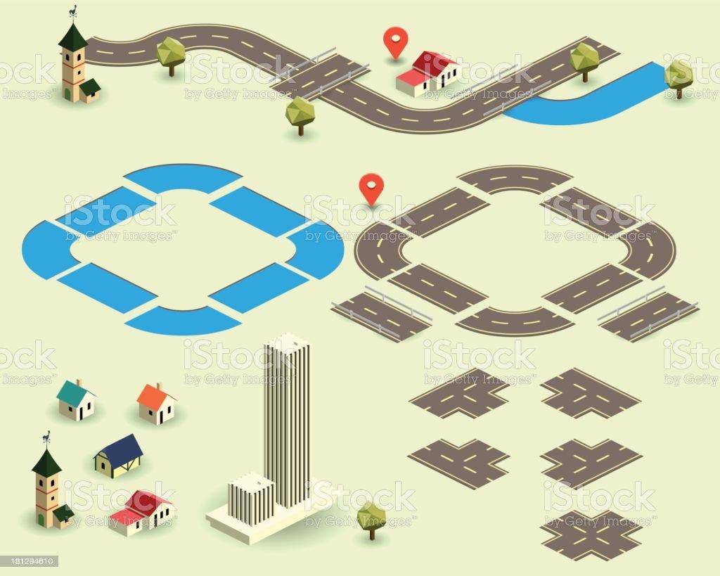 road map royalty-free stock vector art