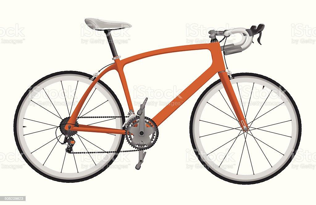Road racing bike vector art illustration