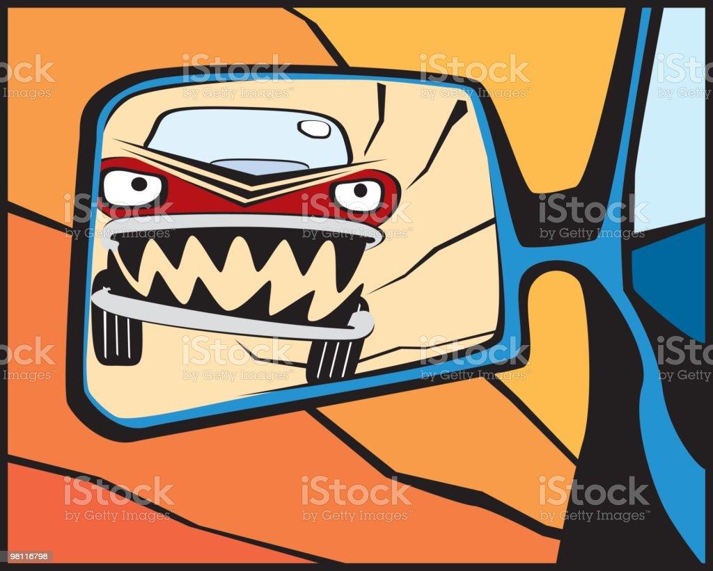 road rage! vector art illustration