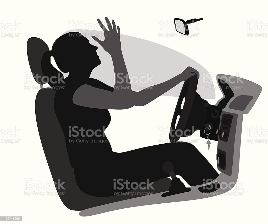 Road Rage Vector Silhouette vector art illustration