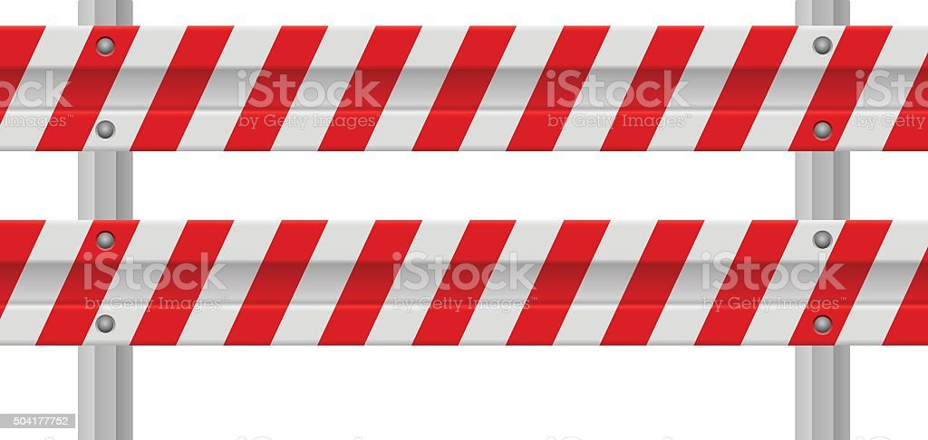Road safety barrier vector art illustration