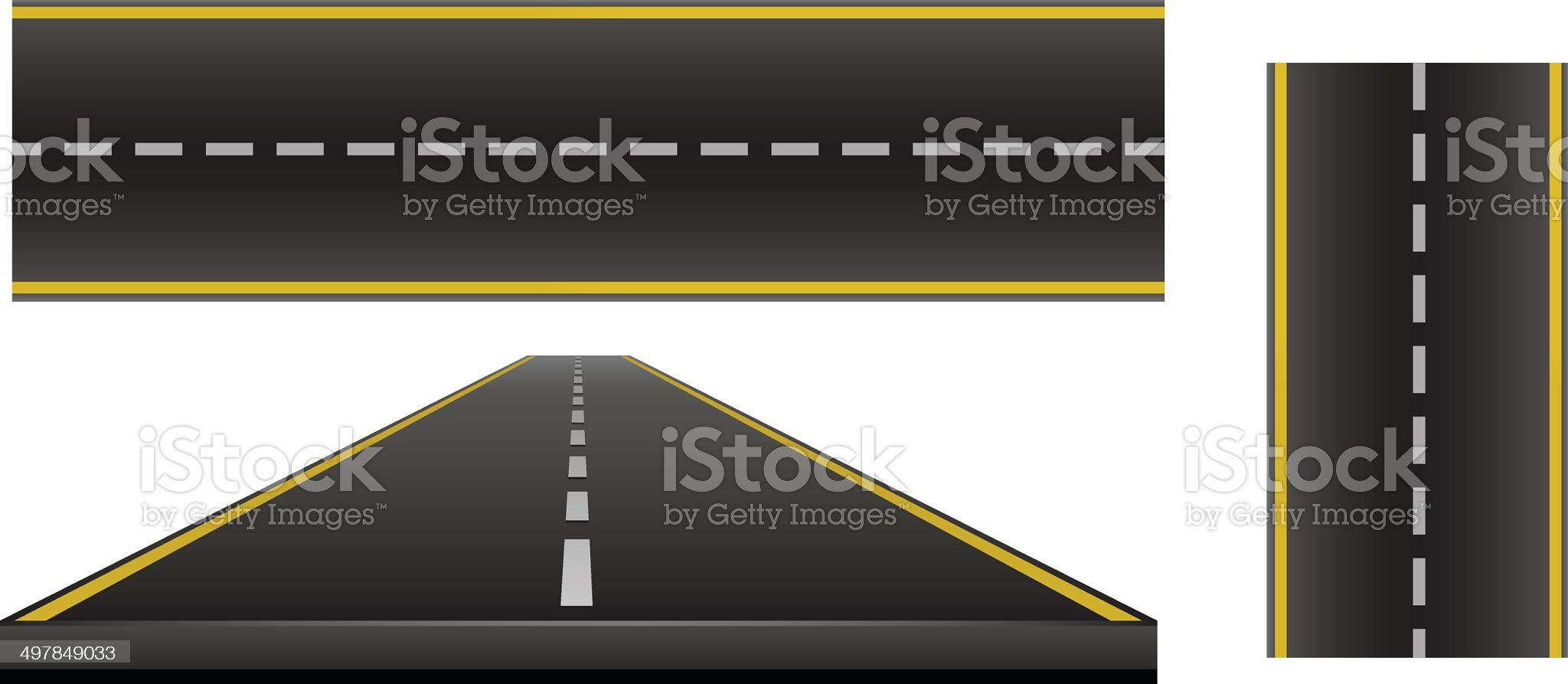 Road set royalty-free stock vector art