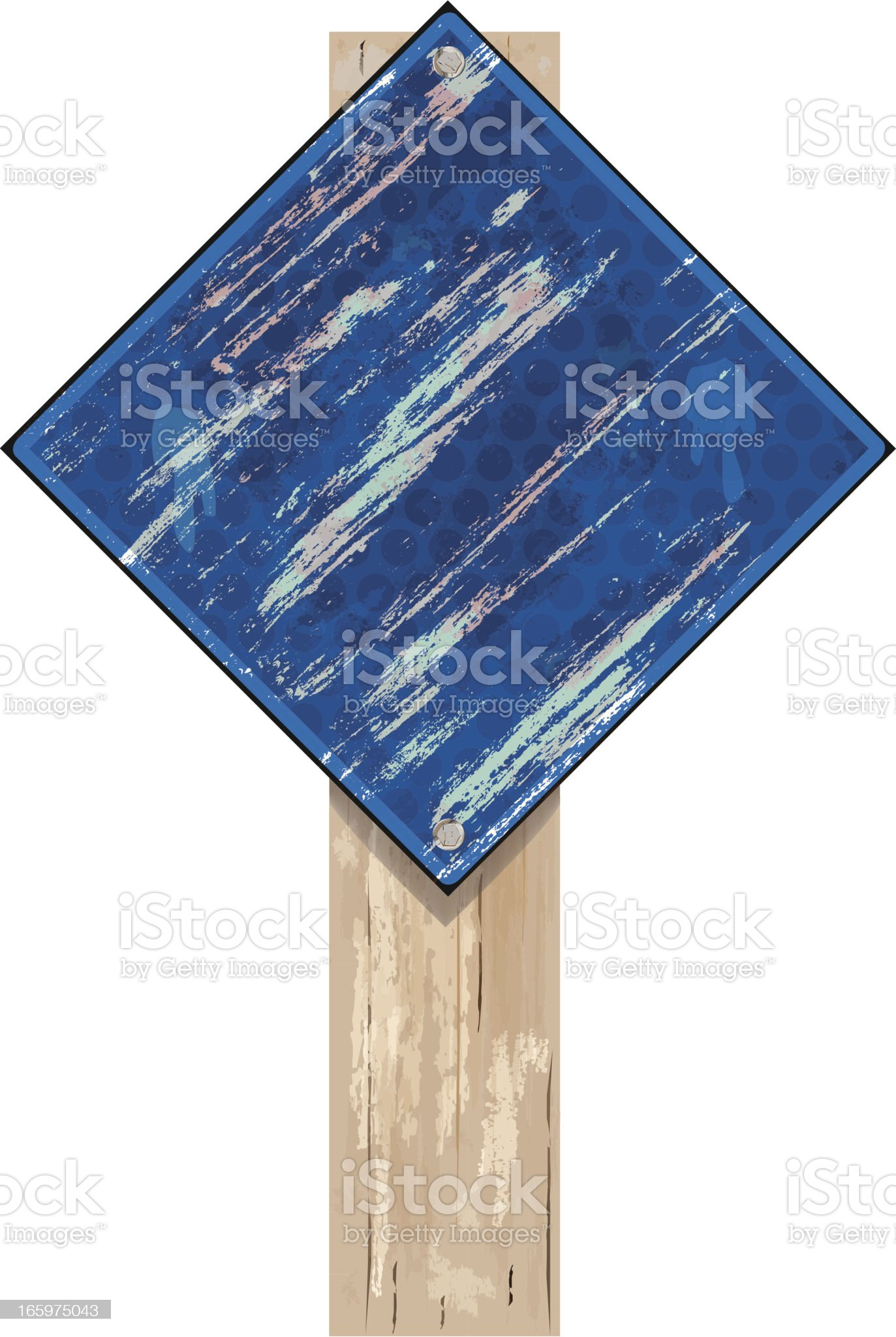 Road Sign | Blue Grunge royalty-free stock vector art