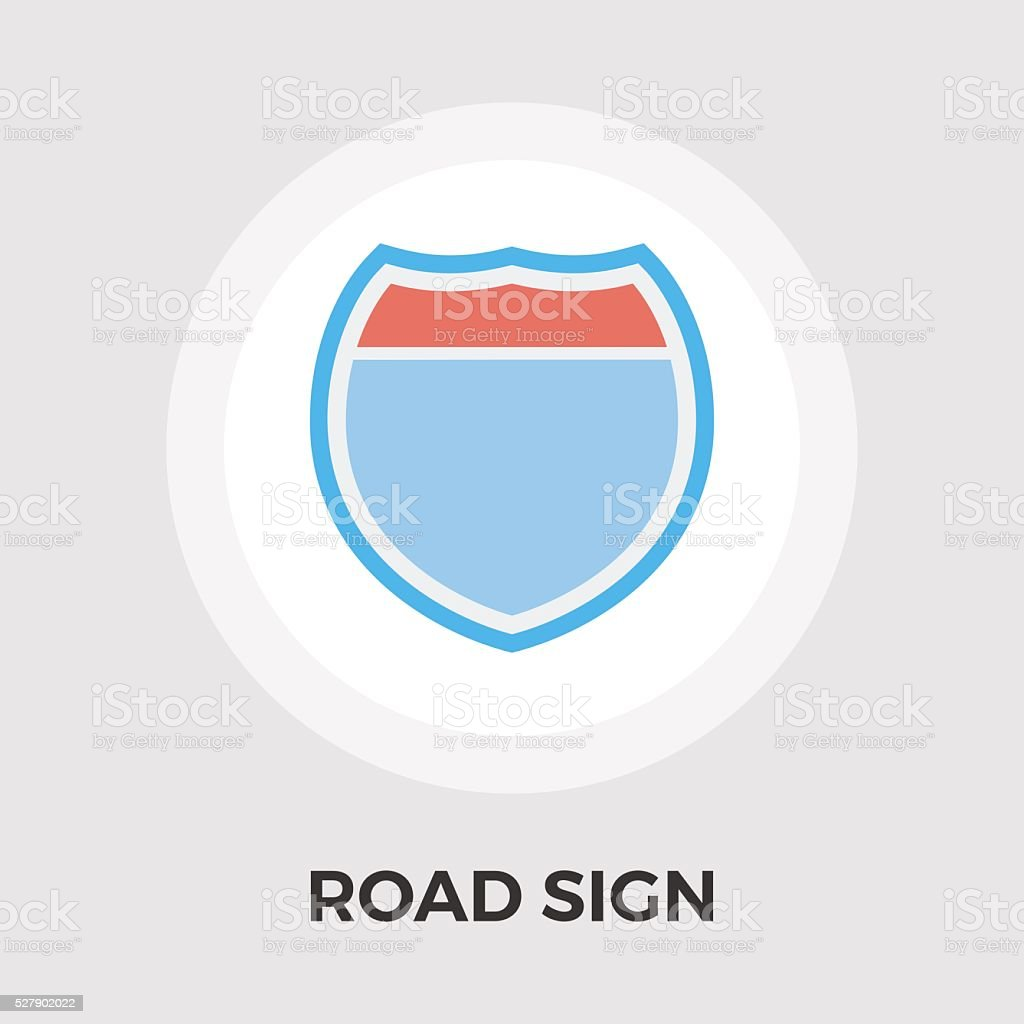 Road sign flat icon vector art illustration