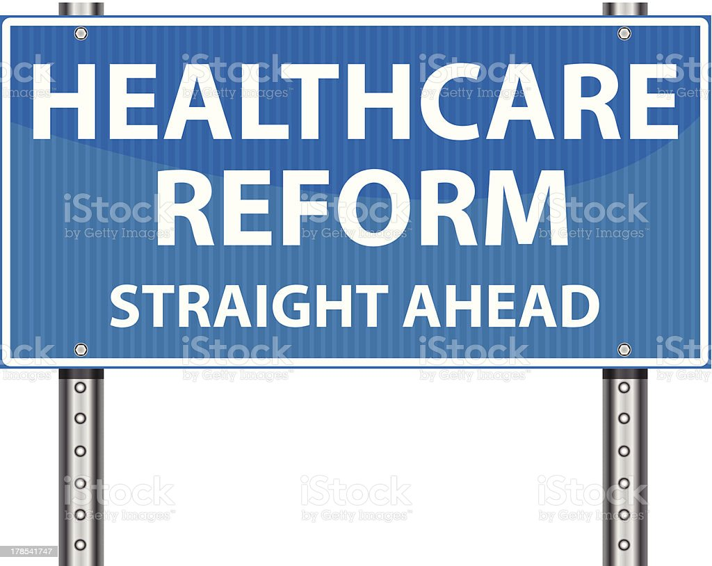 Road Sign | Healthcare Reform royalty-free stock vector art