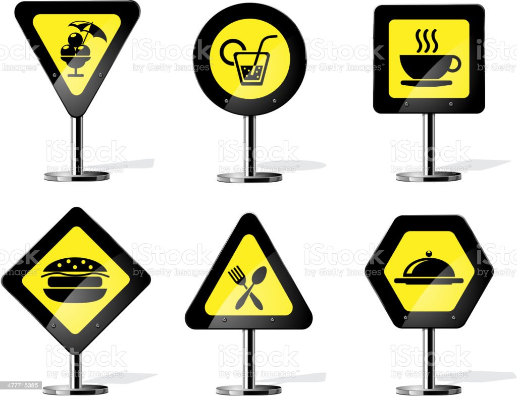 Road Sign Icons royalty-free stock vector art