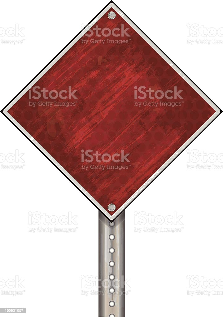 Road Sign | Red Grunge royalty-free stock vector art