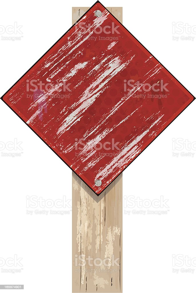 Road Sign   Red Grunge royalty-free stock vector art