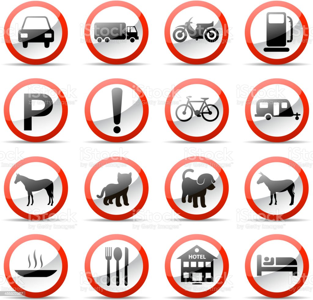 road sign set royalty-free stock vector art