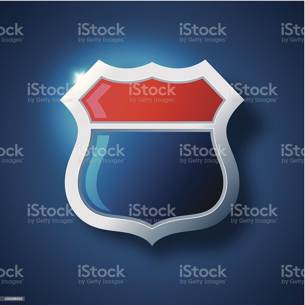 U.S. Road Sign royalty-free stock vector art
