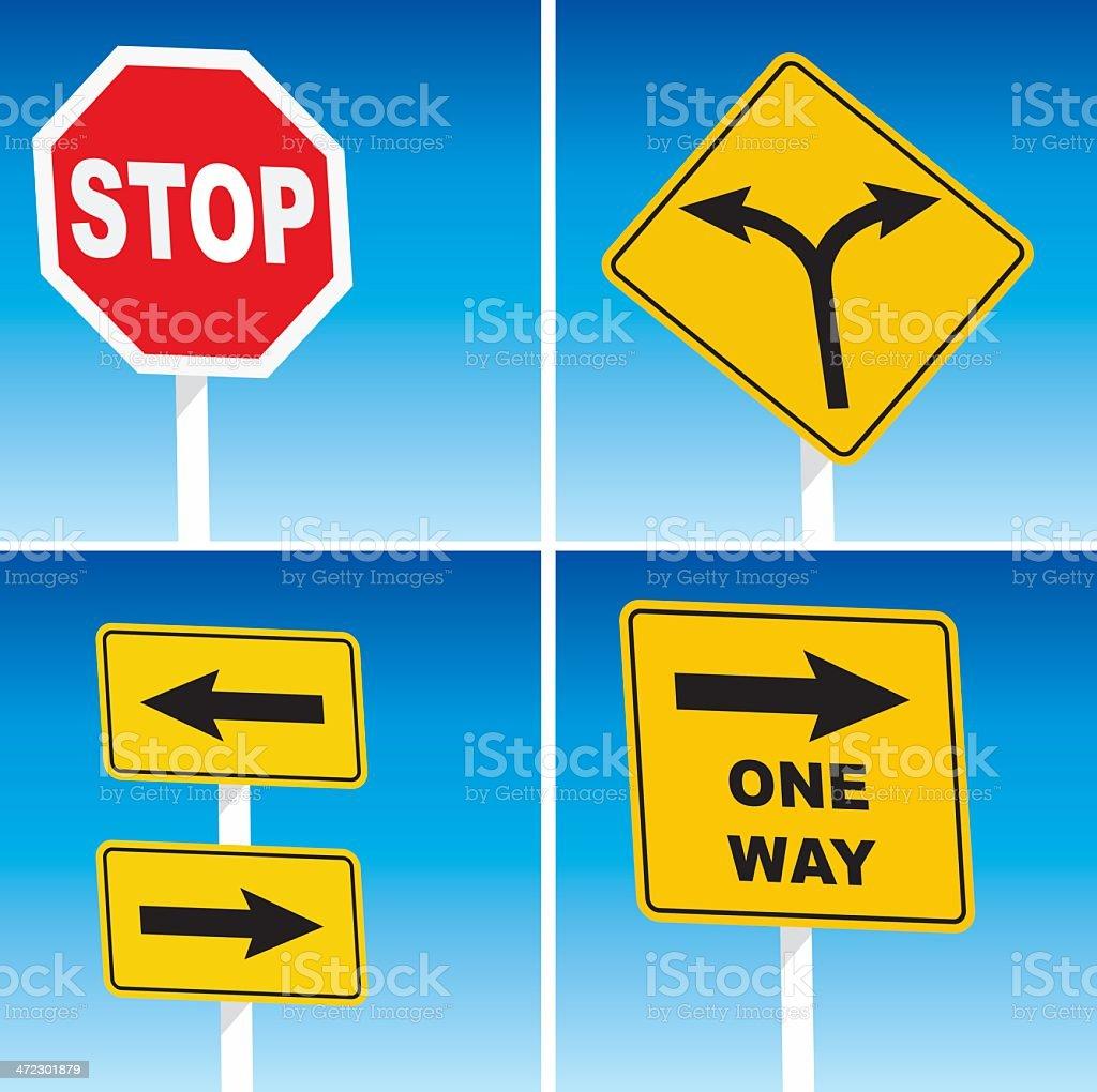 Road Sign vector art illustration