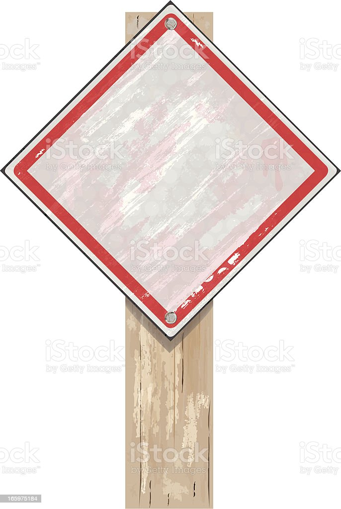 Road Sign | White Grunge royalty-free stock vector art