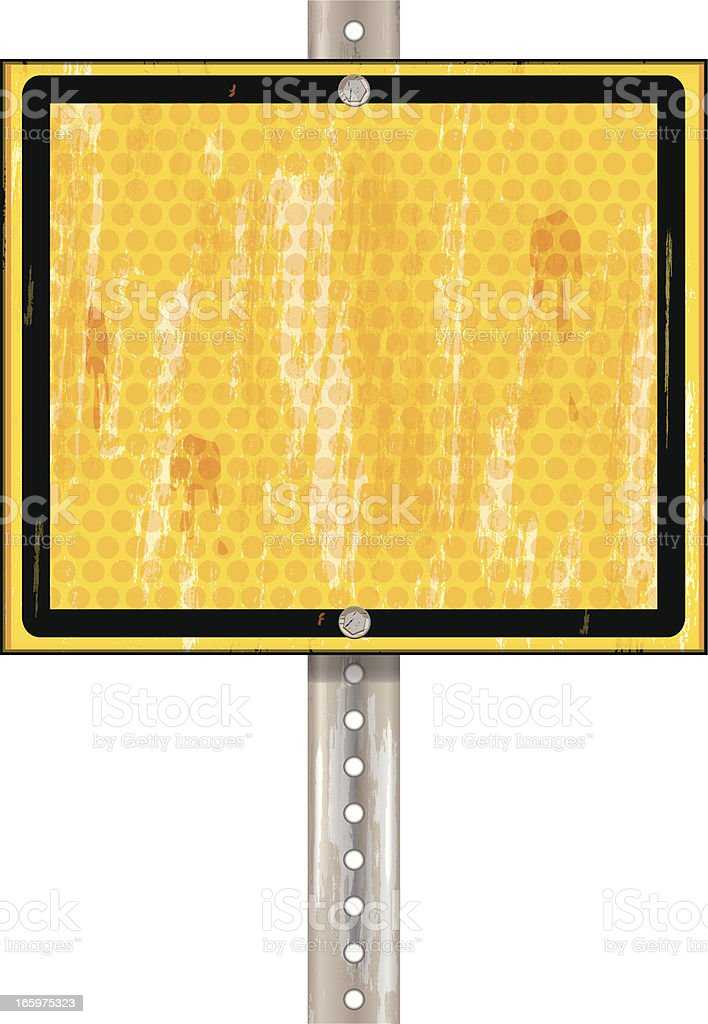 Road Sign | Yellow Black Grunge royalty-free stock vector art