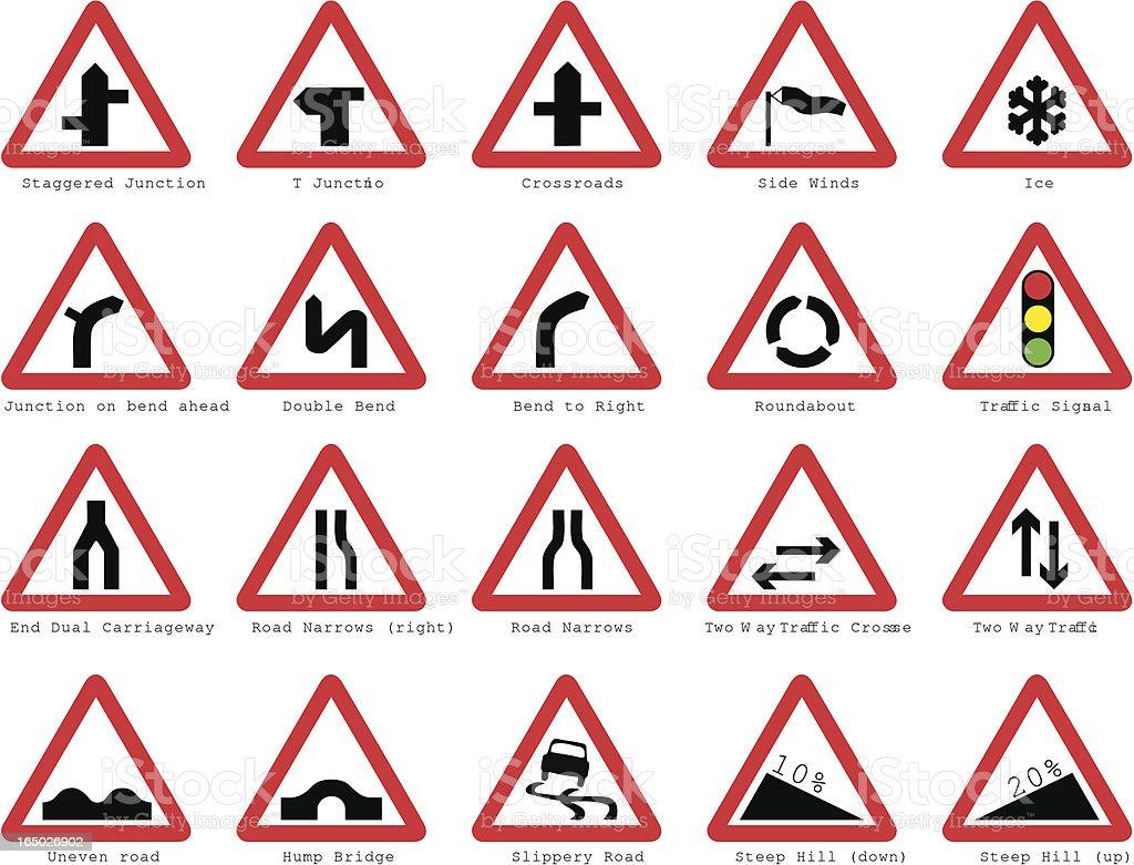 UK road signs: Basic Junctions vector art illustration