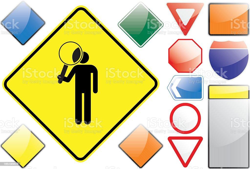 US Road Signs – Closer Look royalty-free stock vector art