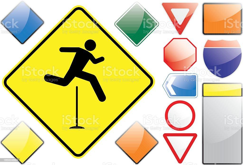US Road Signs – Hurdles royalty-free stock vector art