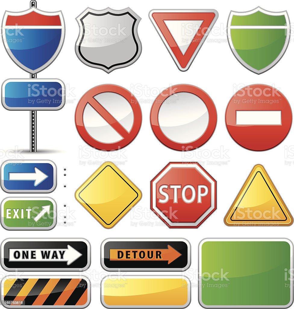 Road Signs (Vector) vector art illustration