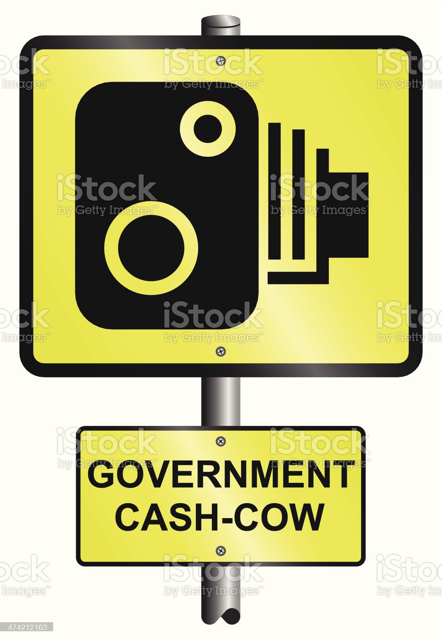 Road speed camera royalty-free stock vector art