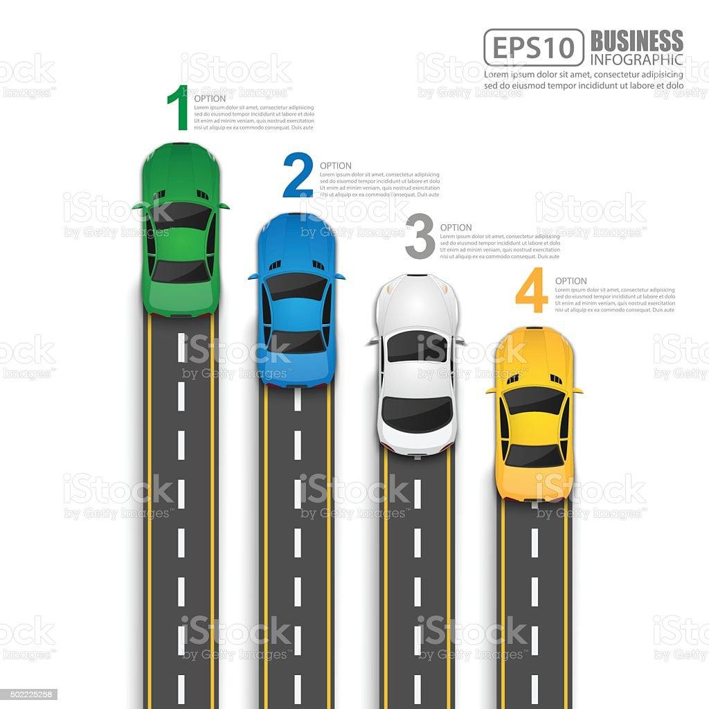 Road & Street Infographic Design Template,Vector Illustration vector art illustration