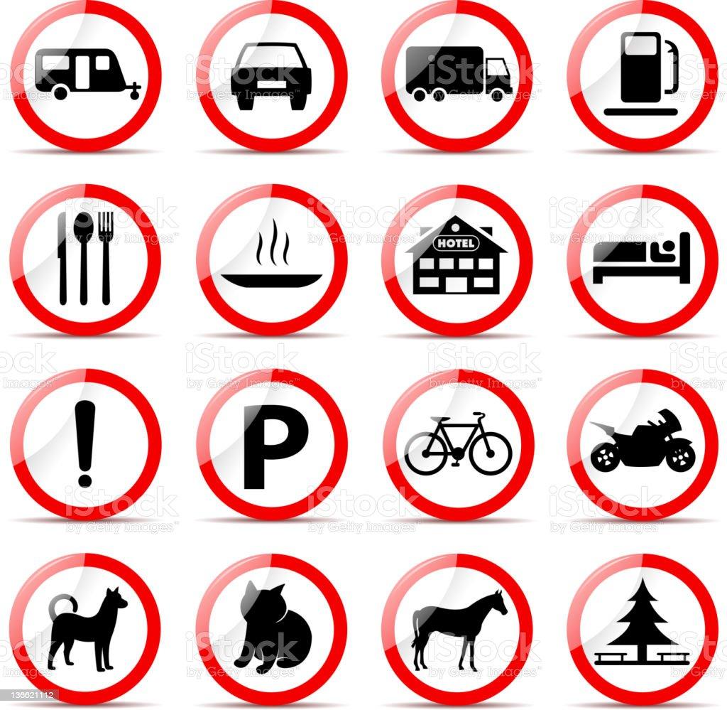 road symbols stock photo