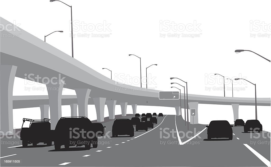 Road To Paradise Vector Silhouette vector art illustration