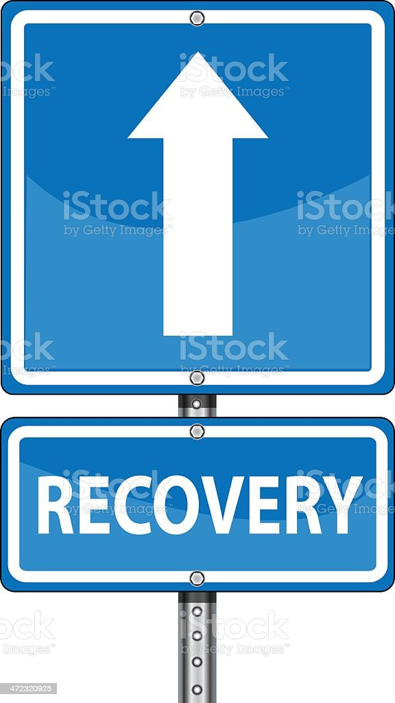 Road to Recovery vector art illustration