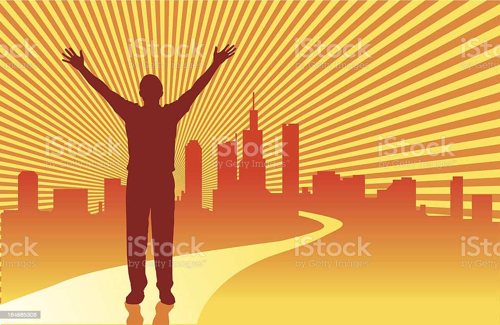 Road To Success royalty-free stock vector art