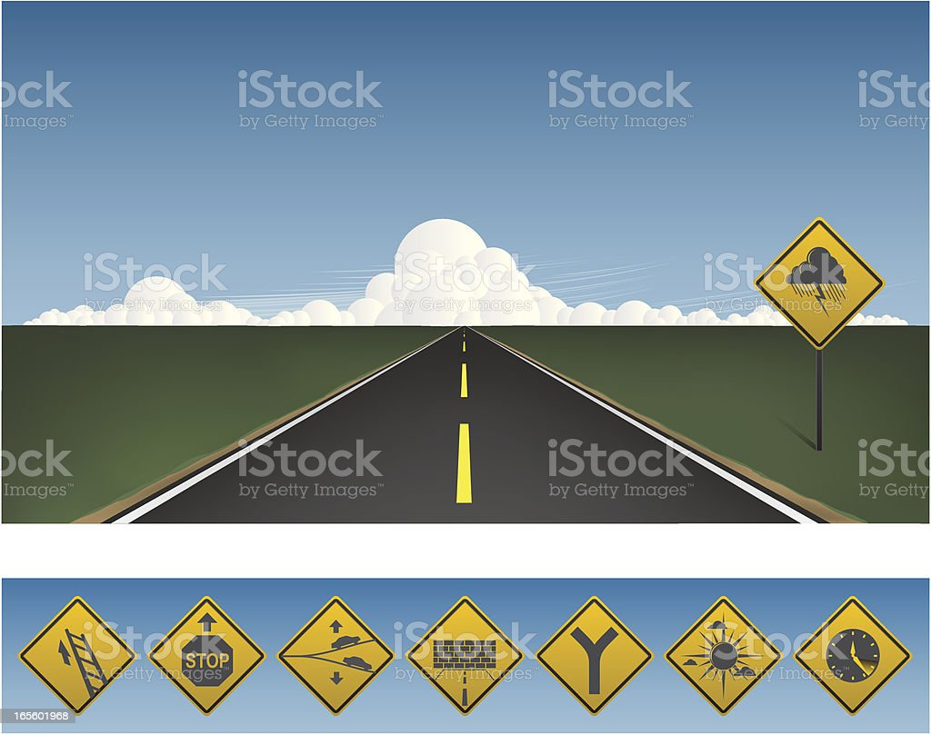 Road to your horizon royalty-free stock vector art