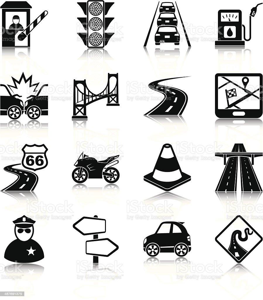 Road traffic vector art illustration