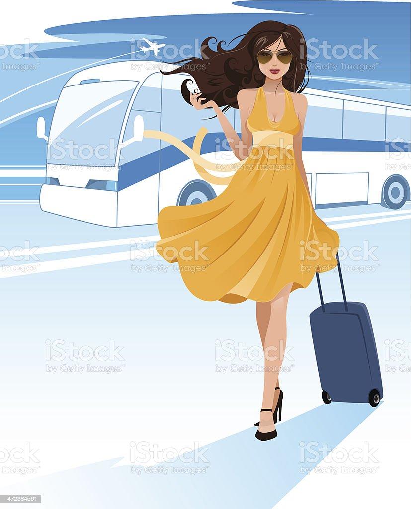 Road trip vector art illustration