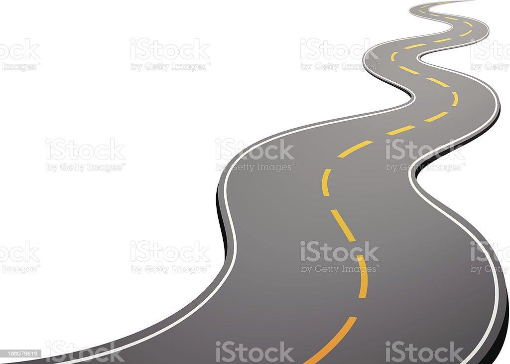 Road vector art illustration