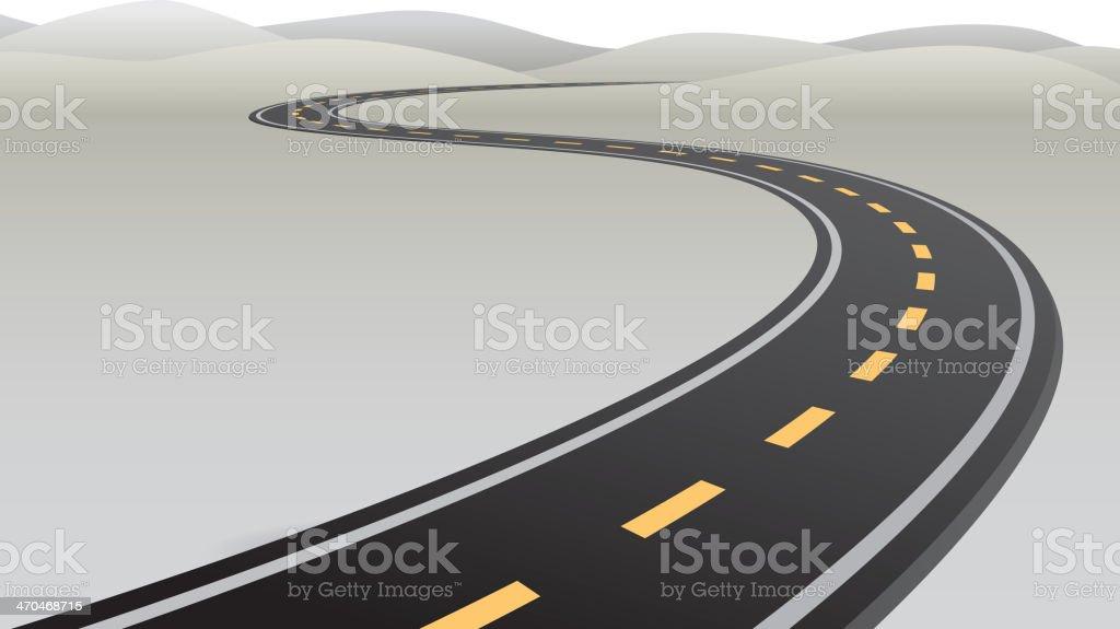 Road royalty-free stock vector art