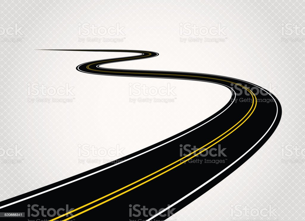 Road vector art illustration
