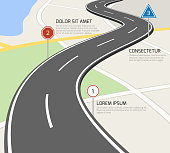 Road vector infographic