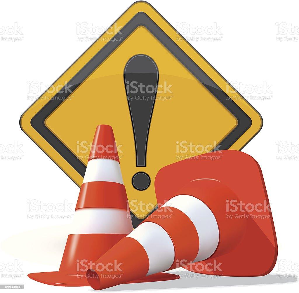 Road Warning Sign vector art illustration