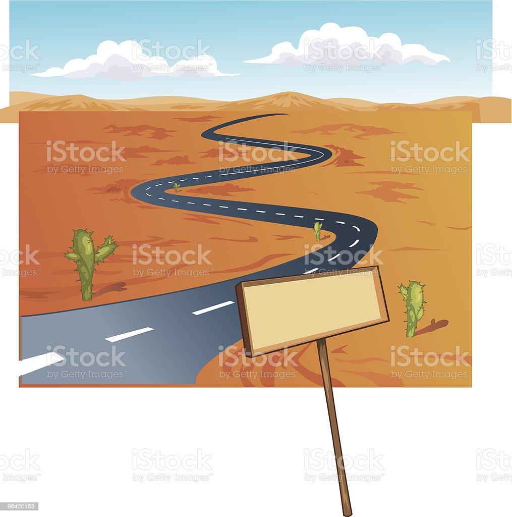 Road Winding vector art illustration