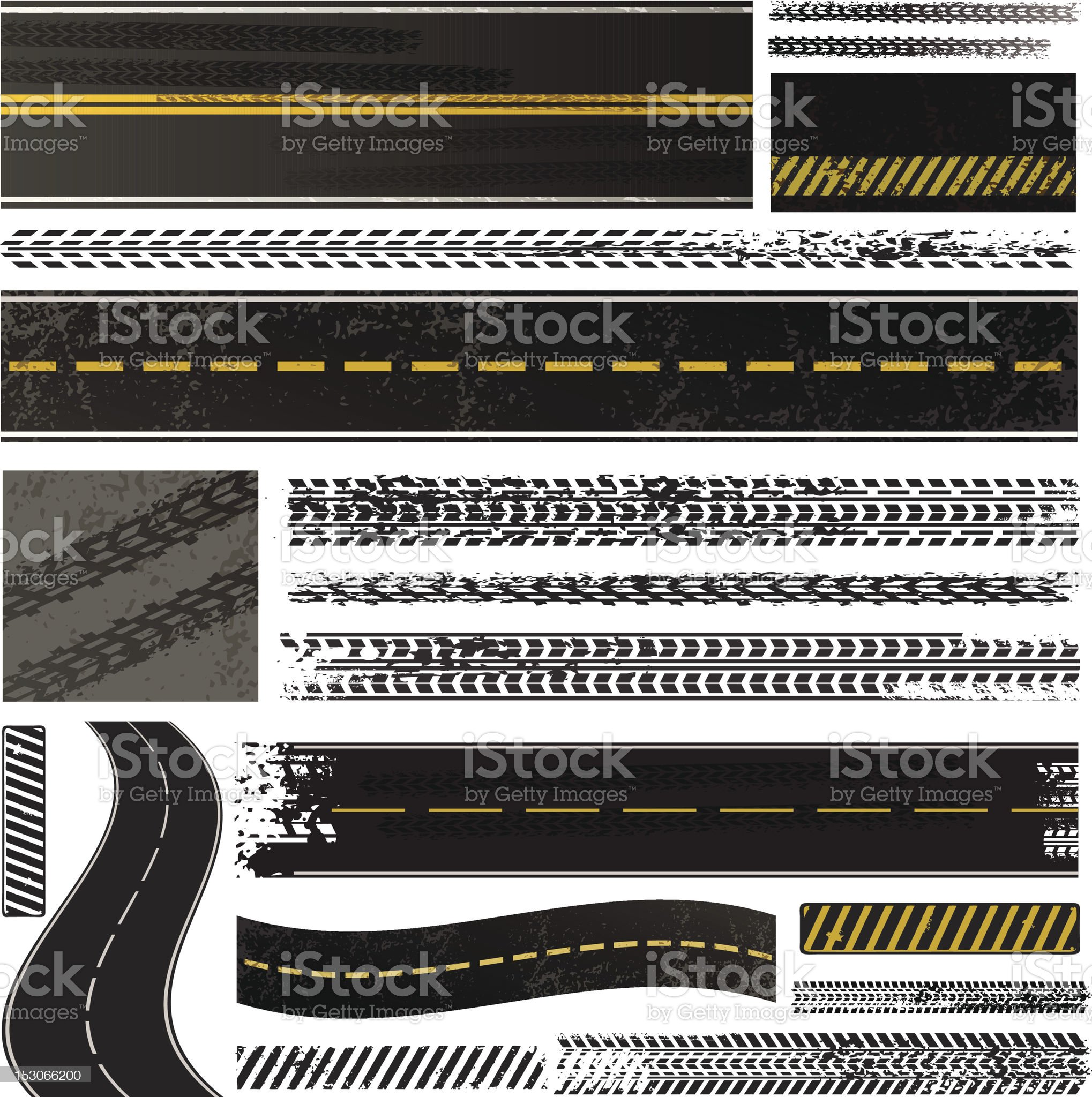 Roads collection royalty-free stock vector art