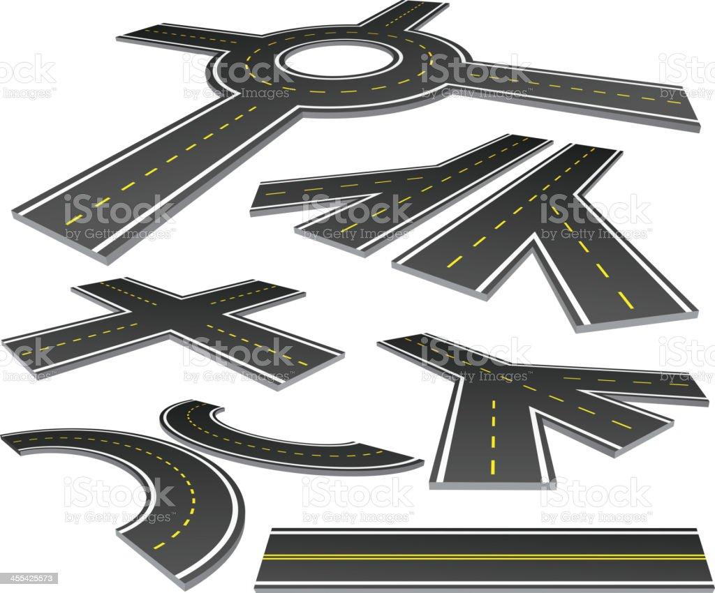 Roads vector art illustration