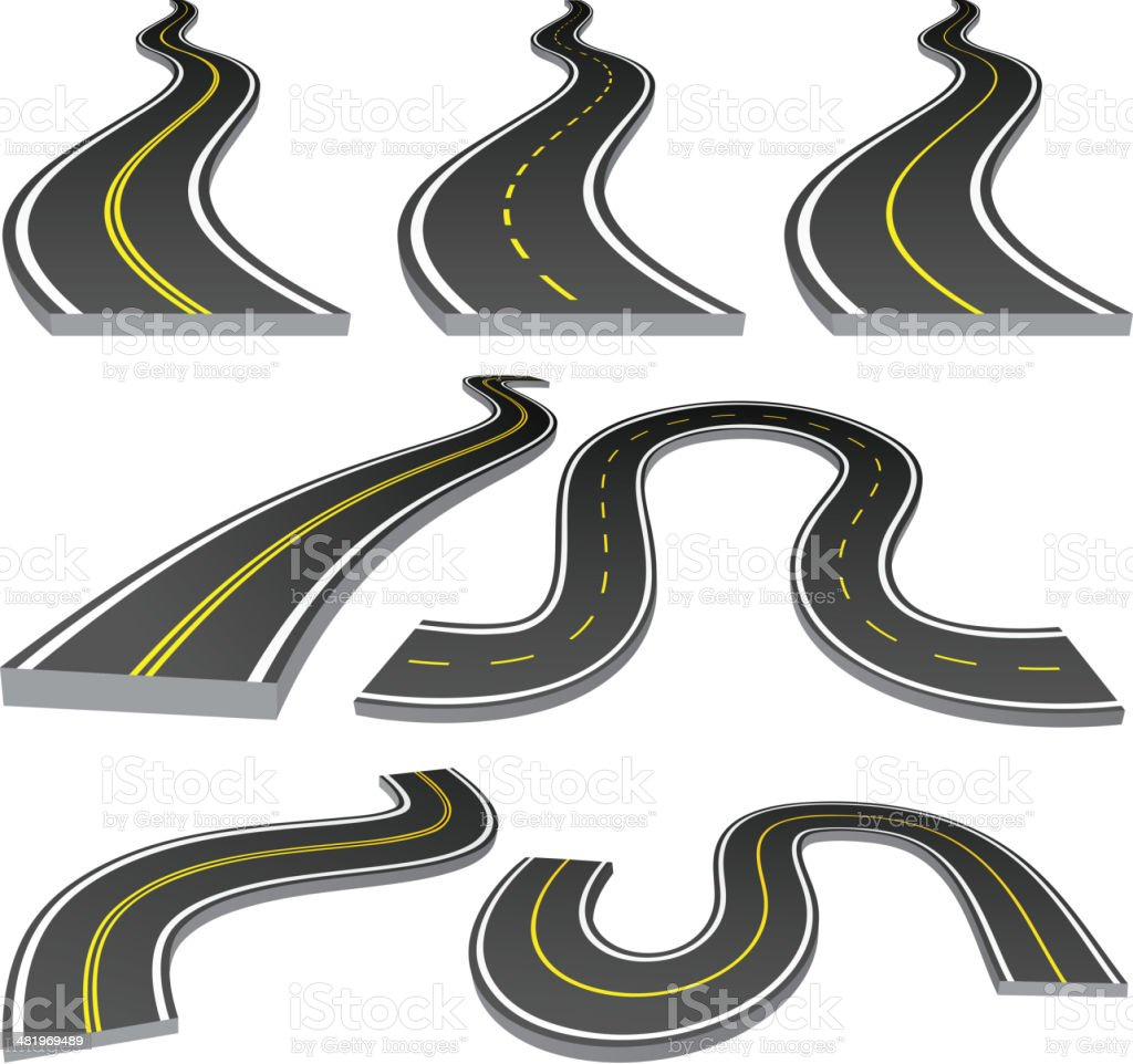 Roads vector art illustration