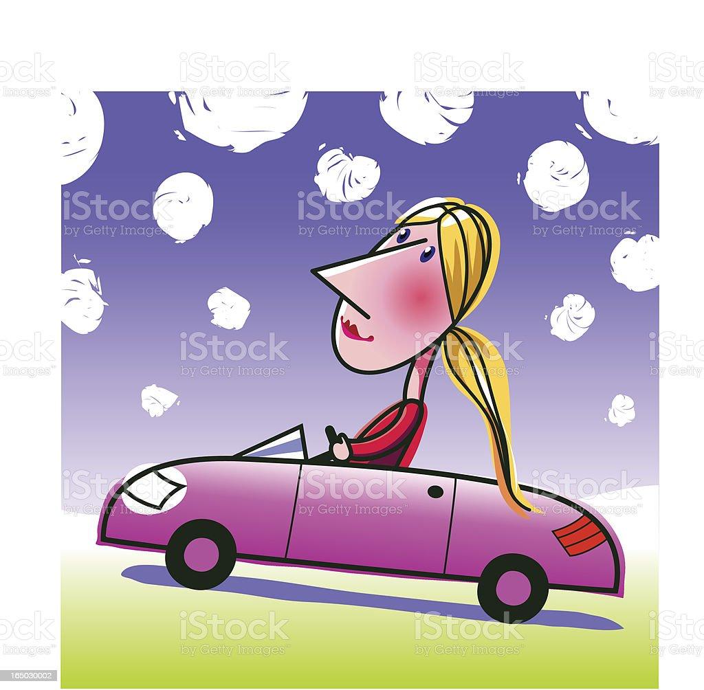 roadster girl royalty-free stock vector art